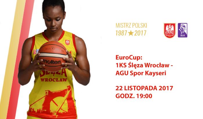 EuroCup: Ślęza Wrocław - AGU Spor Kayseri | mecz koszykówki