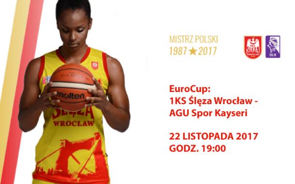 EuroCup: Ślęza Wrocław - AGU Spor Kayseri   mecz koszykówki