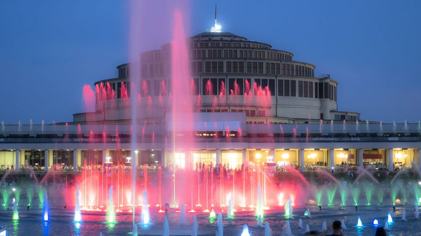 Wrocławska fontanna multimedialna | sezon 2020 - pergola