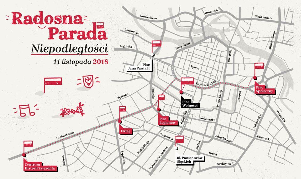 Radosna Parada Niepodleglosci Wroclaw plan