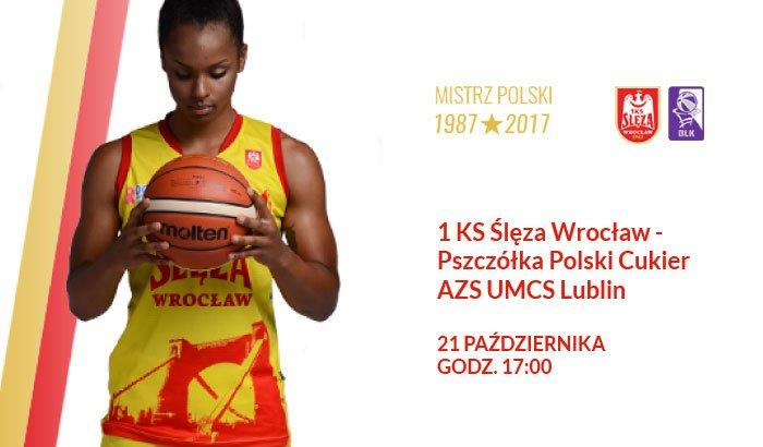 Ślęza Wrocław - Pszczółka Lublin | mecz koszykówki