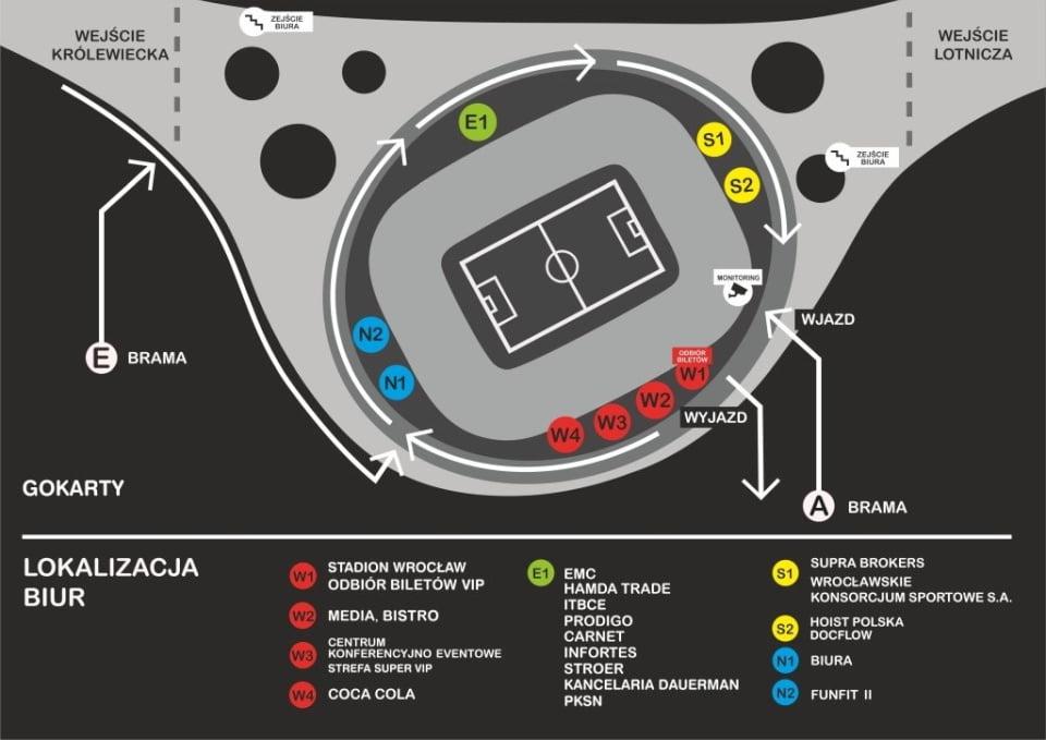 Plan stadionu Wrocław