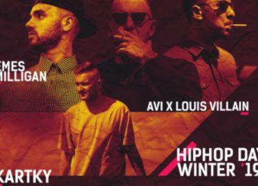 Kartky, Emes Milligan, AVI x Louis Villain - Hip Hop Day - Winter 2019 | koncert