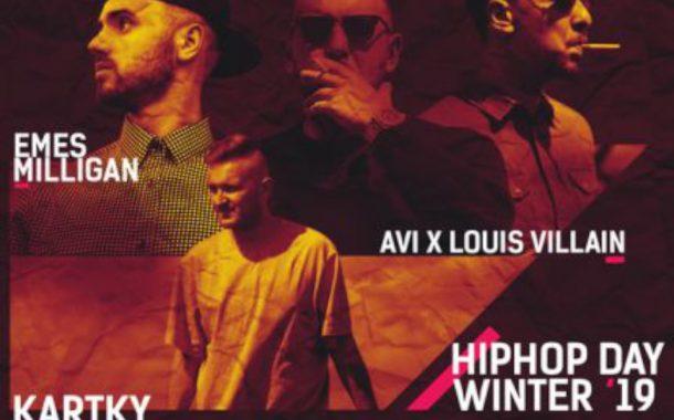 Kartky, Emes Milligan, AVI x Louis Villain - Hip Hop Day - Winter 2019   koncert