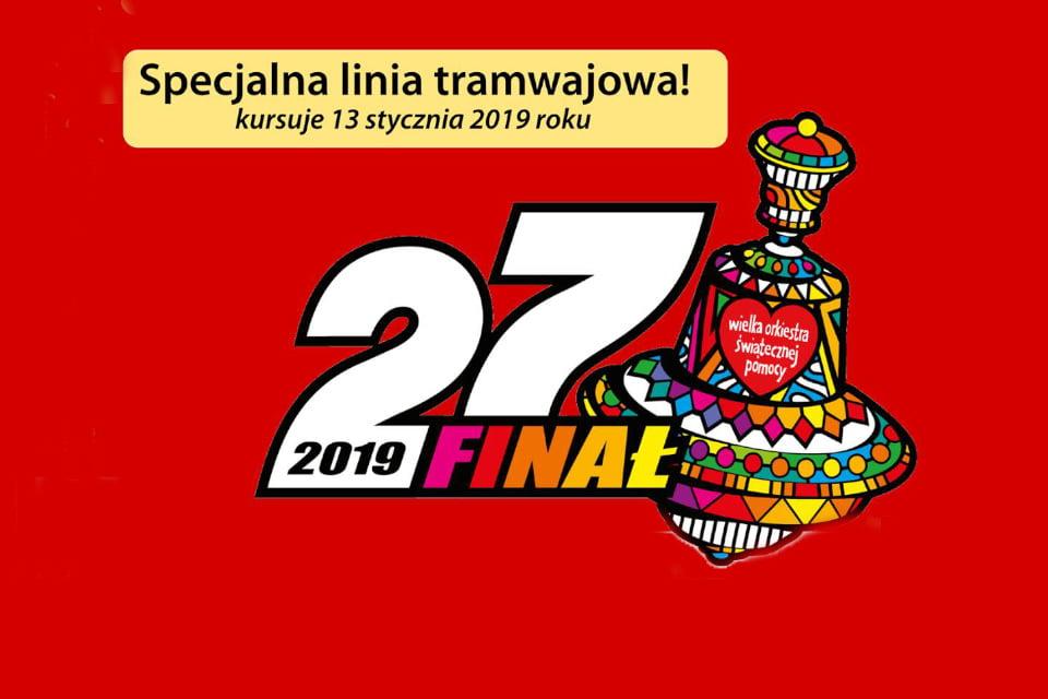 Specjalna linia tramwajowa | 27. finał Wielkiej Orkiestry Świątecznej Pomocy