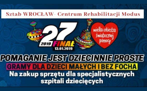 Modus Centrum Rehabilitacji | 27. finał Wielkiej Orkiestry Świątecznej Pomocy
