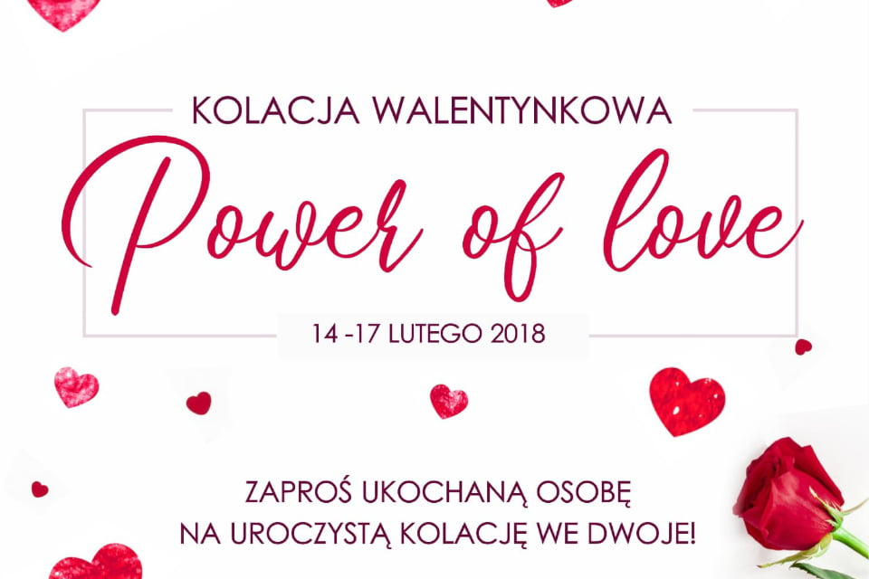 """Kolacja walentynkowa """"Power of love"""""""