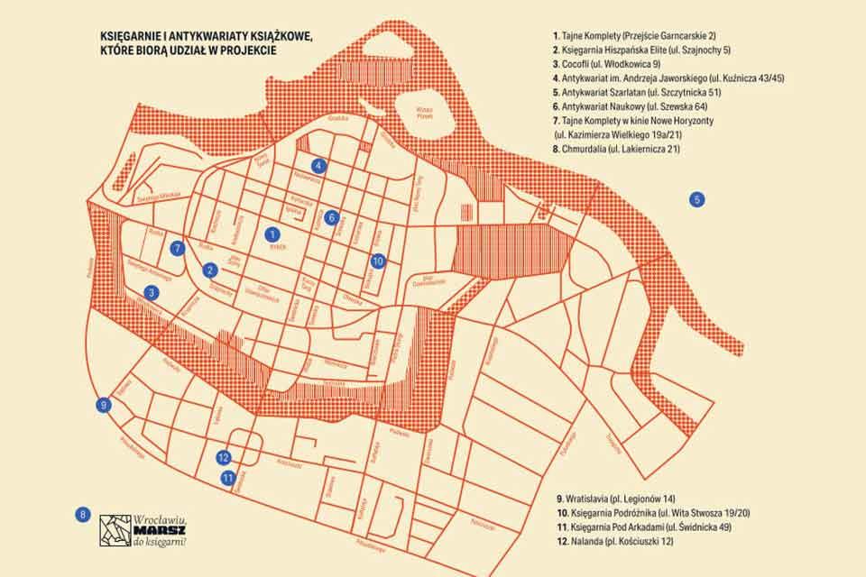 Mapa festiwal ksiegarn wroclaw