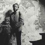 Jerzy Kichler z córką Ewą w Synagodze 1991r