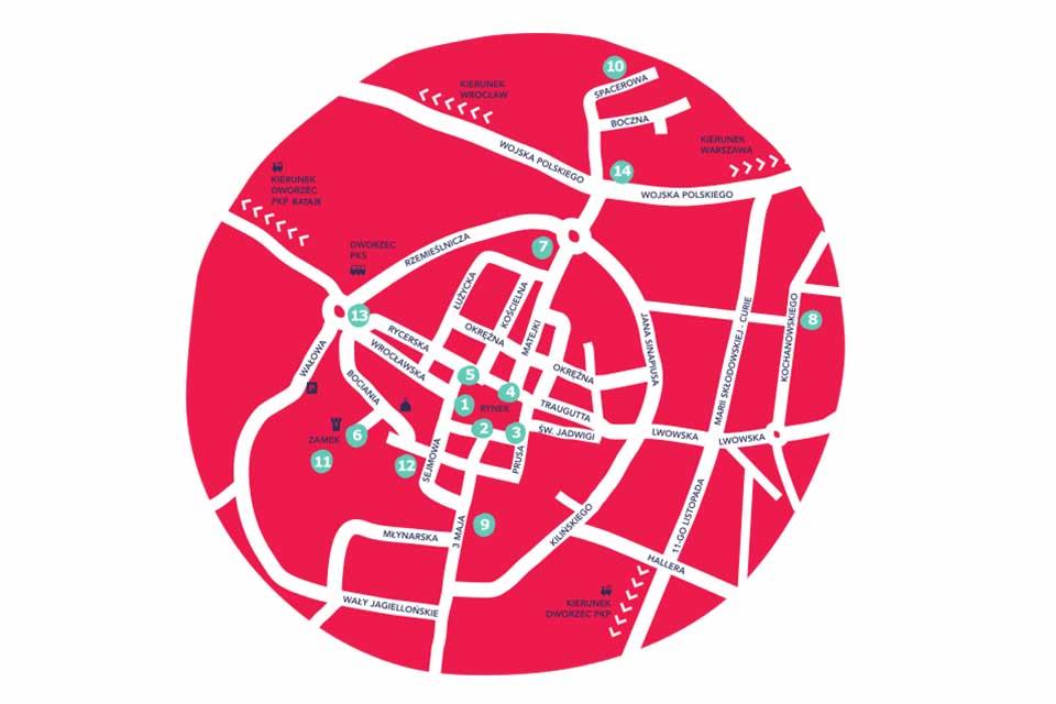 Mapa Festiwalu OFCA 2019