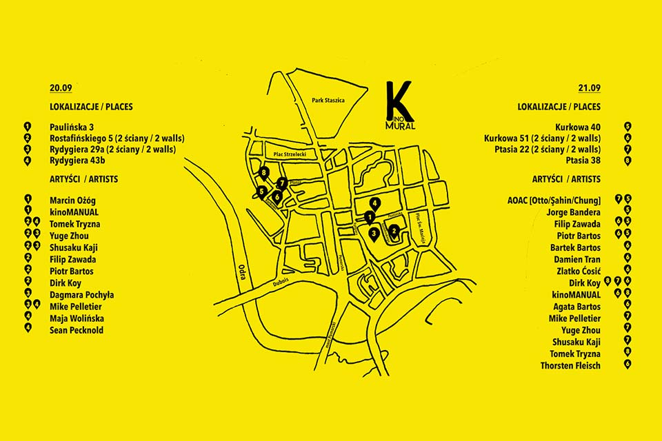 Kinomural mapa