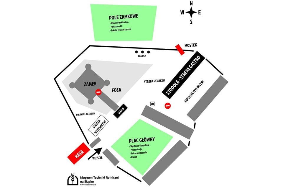 plan sytuacyjny - gala pary 2019 - muzeum techniki rolniczej