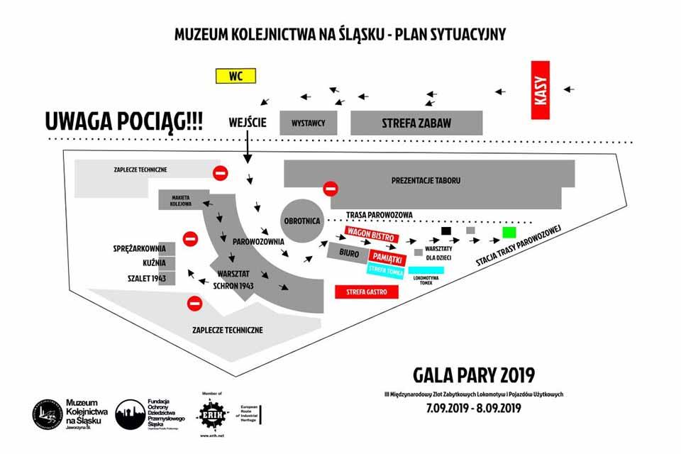 plan sytuacyjny gala pary muzeum kolejnictwa