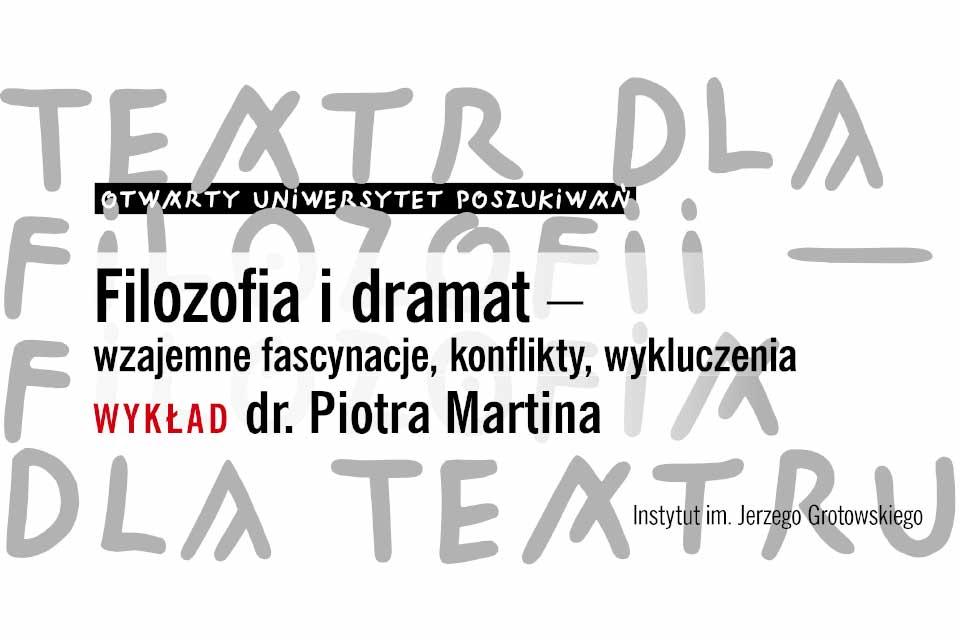 Burzliwe związki filozofii i dramatu   wykład