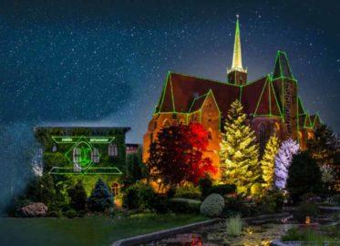 Światłogród | zimowa iluminacja w Ogrodzie Botanicznym