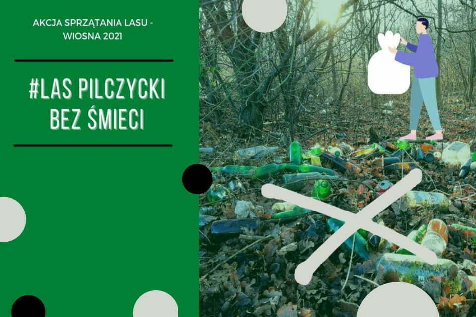 Las Pilczycki bez śmieci | akcja sprzątania lasu