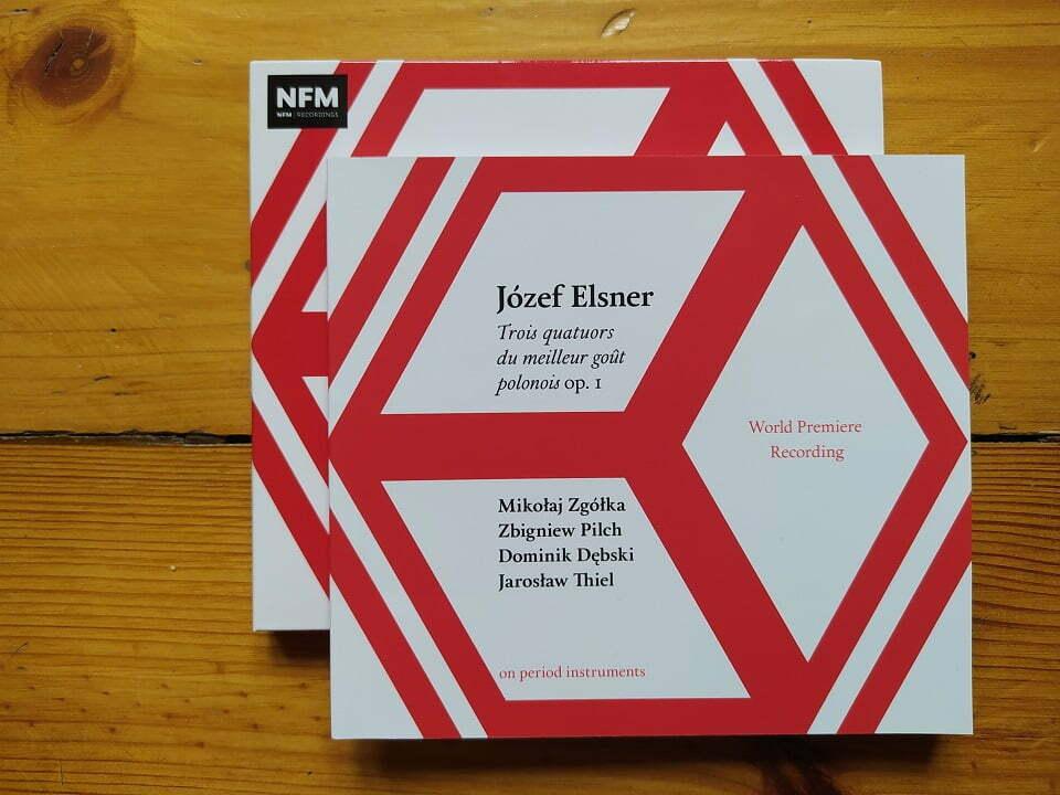 """Józef Elsner """"Trois quatuors du meilleur goût polonois op. 1""""   płyta z NFM"""