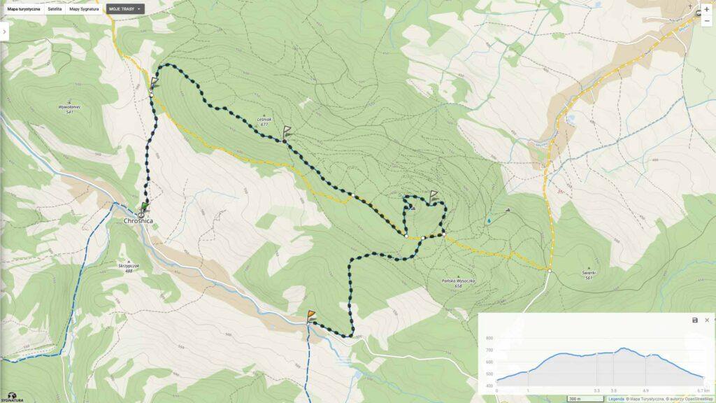 Odkryj Góry Kaczawskie - mapa
